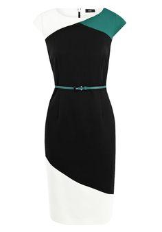 F Colour Block Dress