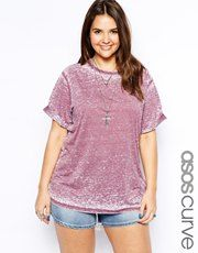 ASOS CURVE T-Shirt In Burnout