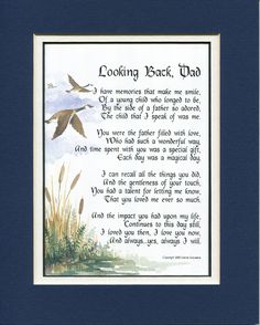 Gifts for Dad Gifts for Fathers Fathers Day gifts Christmas gifts for Dads Father Poems Dad Poems