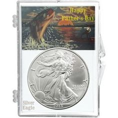 2013 Silver American Eagle Happy Fathers Day Snaplock