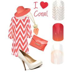 """""""In a coral mood?"""" by latoya-rodriguez on Polyvore"""