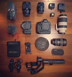 Gear inspiration for the day photo by awesome camera gear. Inspiration For The Day, Camera Deals, Used Cell Phones, Photography Gear, Best Camera, Filmmaking, Gears, Kit, Professional Cameras
