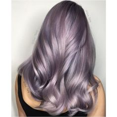 Smoky lilac is the most subtle cool hair color yet ❤ liked on Polyvore featuring beauty products, haircare, hair color and hair