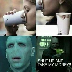 Funny, harry potter, and voldemort image Harry Potter Tumblr, Harry Potter Puns, Harry Potter Pictures, Harry Potter World, Funny Jokes, Hilarious, Memes Humor, Harry Potter Wallpaper, Funny Harry Potter