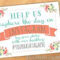 Instagram wedding hashtag printable sign from @offbeatbride