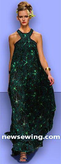 Patrón gratis: vestido largo estampado para celebraciones de verano