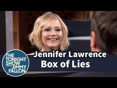 """Jennifer Lawrence Plays """"Box Of Lies"""" With Jimmy Fallon. I want her hair.  Saving for stylist."""