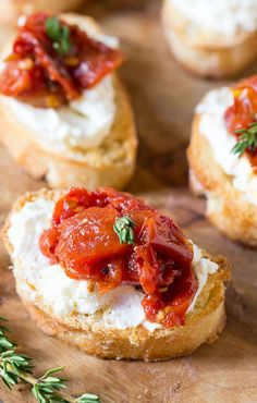 Tomato Jam Crostini with Whipped Feta