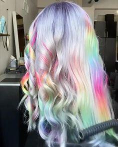 Hair Color Purple, Blonde Color, Hair Colors, Pink Purple, Ali Grace Hair, Peekaboo Hair, Fairy Hair, Straight Lace Front Wigs, Beautiful Hair Color