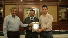 Dr. Carlos Monteiro receiving certificate of Fellowship in minimal access Surgery at World Laparoscopy Hospital. For more detail please log on to www.laparoscopyhospital.com