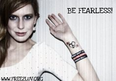 FREE2LUV® @FREE_2_LUV  10s11 seconds ago Be FEARLESS! Stand up for what you believe in even when you stand alone. #FriendsDontLetFriendsBully ❤︎ #Free2Luv