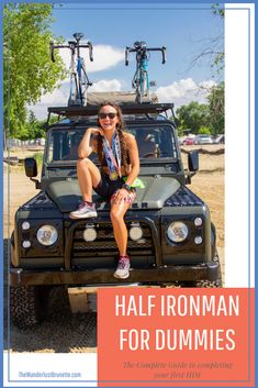 Completing a Half Ironman is one heck of an achievement! Not only do you become a bad ass, get in the best shape of your life, feel great you also become Triathlon Strength Training, Half Ironman Training Plan, Triathlon Humor, Ironman Triathlon Tattoo, Ironman Triathlon Motivation, Kids Triathlon, Olympic Triathlon, Sprint Triathlon, Race Training