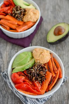 These Healthy Vegetarian Power Bowls are packed with protein and make a quick, easy breakfast, lunch or dinner!