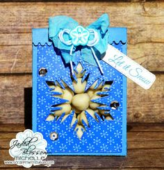 Scrappin with my bug: Jaded Blossom Die Release & New Challenge! snowflake, winter, treat bag,