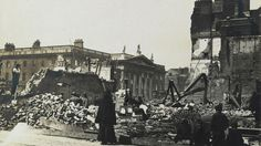 Photographs showing a bird's eye view of the destruction caused to Dublin city centre during the 1916 Easter Rising are published online. Ireland 1916, Dublin Ireland, General Post Office, Limerick City, Trinity College Dublin, Easter Rising, Famous Buildings, Dublin City, Irish Celtic