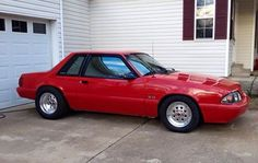 Red mustang coupe on welds 2017 Mustang, Fox Body Mustang, Mustang Cars, Notchback Mustang, Dolly Parton Costume, Danielle Bregoli, Drag Cars, Car Stuff, Muscle Cars
