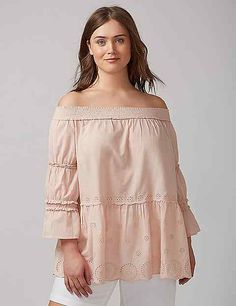 Ruffled Off-the-Shoulder Top | Lane Bryant