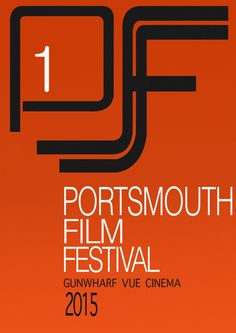 """© Cosmin Ichim  The text is simple, as well as the previous one. In the original design, above the text, there is a shape which forms the initial of the """"London Film Festival"""" - """"LFF"""". In my design, I tried to recreate it, but with a """"P"""" that stands for """"Portsmouth"""". The making of the shape wasn't quite easy to do, where the round corners were the hardest parts to create. The same goes to this poster, where the number """"1"""" stands for the first film festival held in Portsmouth."""