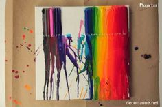 how to make handmade colorful paintings for home decorating