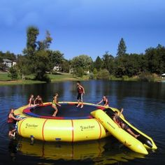 Island Hopper 25 feet Giant Jump Water Trampoline