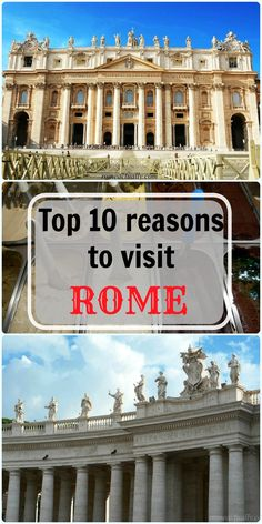 Top 10 reasons to visit Rome For some people it's the beaches, for some the food, others are curious about a different culture and some for the history of a place. Many like to travel for a combination of all of these. If you are one of the latter, you will appreciate our top reasons to visit Rome.  Rome is one of those travel destinations that you will hardly forget. Once back home, it will suffice to sip an espresso or watch a movie set in the eternal city to make you want to go again. The…