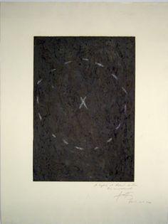 Grafik Antoni Tàpies, Barcelona,  title: Cercle sur Matière,  technology: Etching with Embossing
