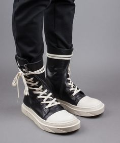 indie-designs-clothing Indie Designs Mark Gonson Inspired Leather Boat High Top Sneakers  Price: $195.00  Availability: in stock  Prod. Code:...