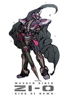 Rider 913 gallery added a new photo. Kamen Rider Decade, Kamen Rider Series, Character Art, Character Design, Arte Robot, Kamen Rider Zi O, Custom Gundam, Godzilla, Fanart