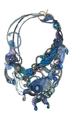 Jewelry Design - Bib-Style Necklace with Swarovski® Crystals, Shibori Silk and Seed Beads - Fire Mountain Gems and Beads