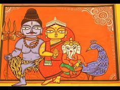 Madhubani Art, Madhubani Painting, Phad Painting, Bengali Art, Rajasthani Painting, Canvas Art Projects, Indian Folk Art, India Art, Indian Art Paintings
