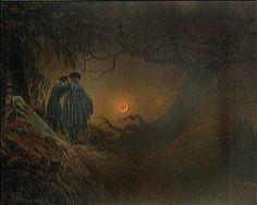 Zwei Männer in Betrachtung des Mondes. by Caspar David Friedrich    worldgallery.co.uk