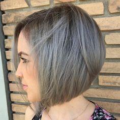 Gray Bob Hairstyle
