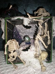 Halloween Witch's Hut Shadow Box by MinisPlus on Etsy, $10.00