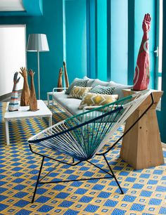 Casa Decor Madrid An Exclusive Interior Design Exhibition Home Staging, Murs Turquoise, Floor Design, House Design, Interior Design Exhibition, Deco Jungle, Deco Design, Home And Deco, Interior Exterior