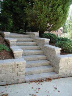 escalones de cemento escalones de la entrada de hormign escalera del jardn escalones de piedra muros de contencin ideas de pared monopatn