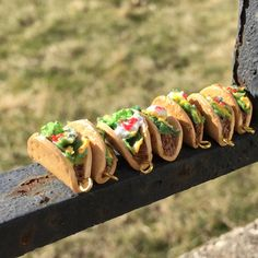 Handmade polymer clay mini tacos ! And more taco accessories are on my Etsy shop now.