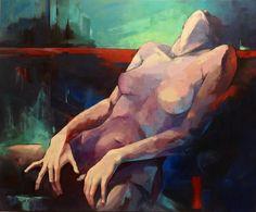 "Saatchi Art Artist Olga Tamara Prokop-Miśniakiewicz; Painting, "" Sleepless in ..."" #art"