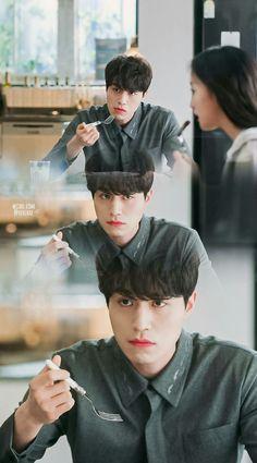 He looks like he's going to kill someone 😂 Grim Reaper- Goblin Lee Dong Wook, Lee Jong Suk, Grim Reaper Goblin, Goblin Korean Drama, Goblin Gong Yoo, Kwon Hyuk, Kpop, Kim Go Eun, Yook Sungjae