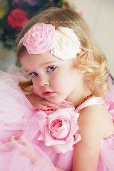 Pink flower girl attire.