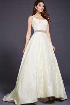 White A-Line Evening Dress 35321