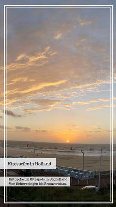 Die Nordseeküste von Holland ist ein Paradies zum Kitesurfen. Die langen Sandstrände, traumhaften Dünenlandschaften und zahlreichen, unterschiedlichen Kitespots, nicht nur zum Kiten in Holland, auch in weiteren Provinzen, locken zahlreiche Kitesurfer und Wassersportler an. #kitesurfing #kiten #holland #surfen #wassersport