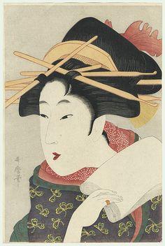 a matchless beauty / utamaro / 1750 - 1806