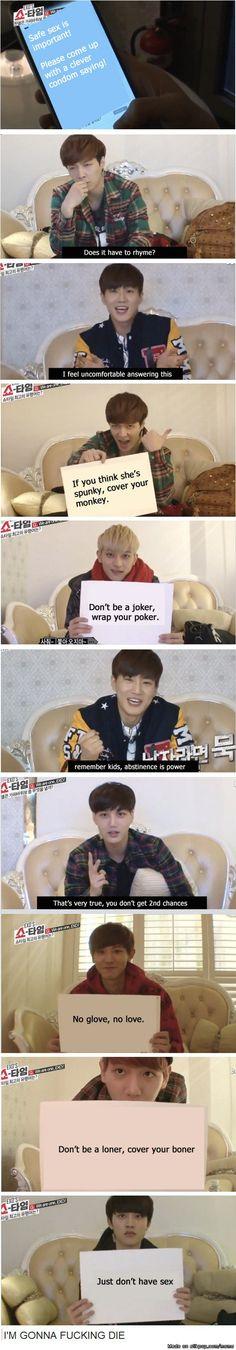 EXO promoting safe sex lol | allkpop Meme Center