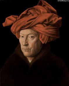Ян ван Эйк. Портрет мужчины в тюрбане. 1433 г.