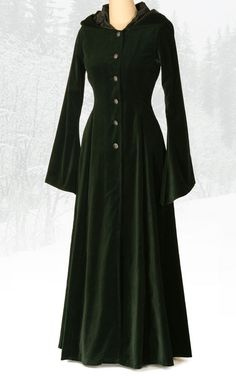 a fancy elf coat made of velvet -  rather impractical but it is pretty - maybe if it wear made of wool instead and is the sleeves were more fitted...