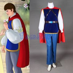 Fairy Tale Snow White and the Seven Dwarfs the Handsome Prince Cosplay Uniform Suit Custom-made Full Set Men Halloween Costumes #Affiliate