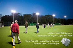 Hockey field in Germany. with 400w 20 degree reflector, Osram Chip, 120lm/w.