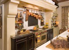 French Stone Kitchen Hood. #French #Stone Kitchen #Hood