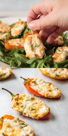 Zesty Cream Cheese Stuffed Mini Peppers - Horseradish and cream cheese stuffed inside mini sweet peppers for an irresistible appetizer! Seafood Appetizers Seafood Appetizers Appetizers Appetizers for a crowd Appetizers parties Appetizers For A Crowd, Seafood Appetizers, Vegetarian Appetizers, Appetizer Recipes, Vegetarian Recipes, Dinner Recipes, Healthy Recipes, Cream Cheese Appetizers, Peach Appetizer