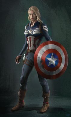 Captain America character design sheet, Andrew Hunt on ArtStation at www. Captain America Shirt, Captain America Cosplay, Female Captain America Costume, Captain America Film, Heros Comics, Marvel Heroes, Captain Marvel, Marvel Dc Comics, Marvel Girls